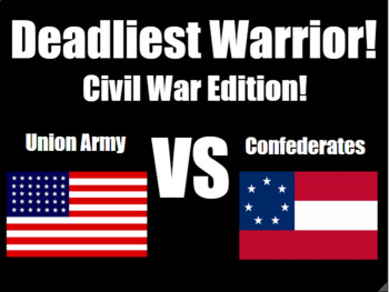 Deadliest Warrior: Civil War! PowerPoint for Middle and Hi