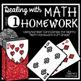 Dealing with Math Homework: 1st Grade Math Card Games Unit