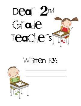Dear Teachers Writing Activity