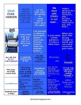 Dear Evan Hansen Quotes - Planner Stickers