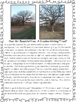 "Dear Mr. Beautiful Tree:  A Creative Writing ""Treet"""