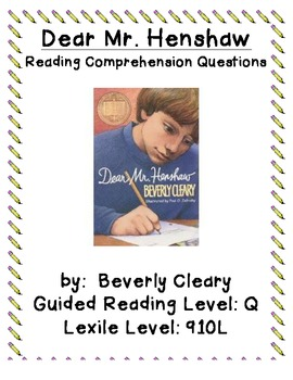 Dear Mr. Henshaw Comprehension Discussion Questions