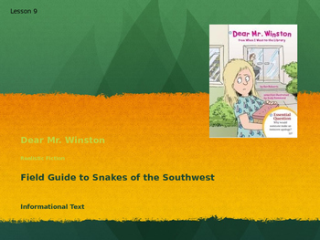 Dear Mr. Winston & Field Guide to Snakes of the Southwest,