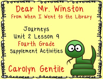 "Dear Mr. Winston from ""When I Went to the Library""  Journe"