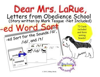 Dear Mrs. LaRue, Letters from Obedience School suffix -ed