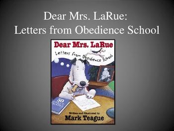 Dear Mrs. LaRue: Letters from Obedience School, Text Talk