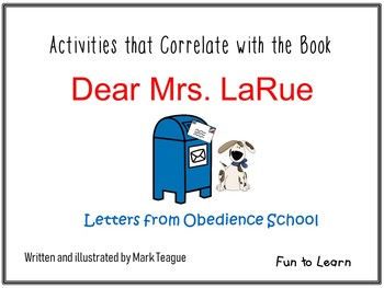 Dear Mrs. LaRue   Letters from Obedience School 38 pgs. Co