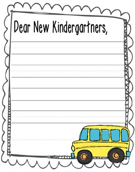 Dear New Kindergartners