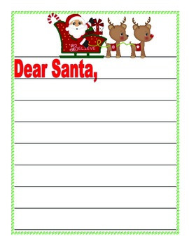 Dear Santa, A Fun Free Banner and Writing Paper for Christmas