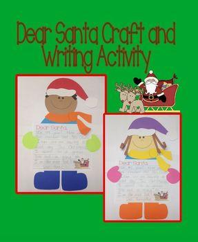 Dear Santa Craft and Writing Activity