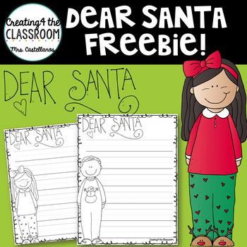 Dear Santa Letter {Writing Freebie}