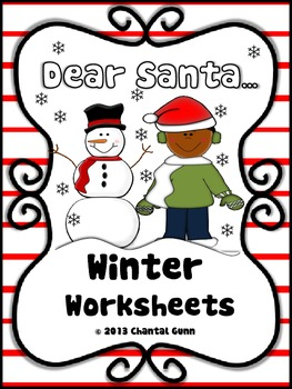 Dear Santa... (Winter Worksheets for K-2)