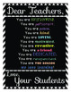 """Dear Students/Dear Teacher, You are..."" Motivational Post"
