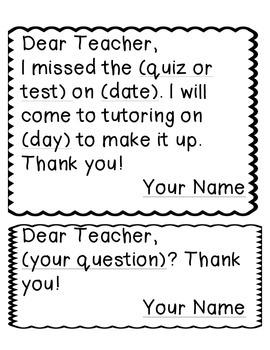 Dear Teacher: Polite Prompts