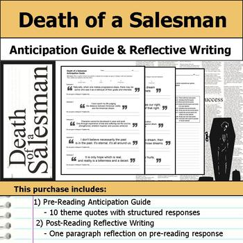 Death of a Salesman - Anticipation Guide & Post Reading Re