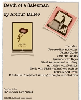 Death of a Salesman Arthur Miller BUNDLE!