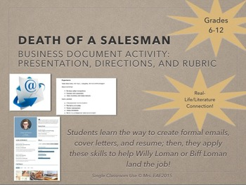 Death of a Salesman Business Document Character Connection