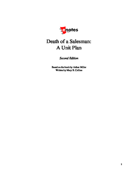 Death of a Salesman Lesson Plan