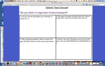 Debate Team Carousel Flip Chart