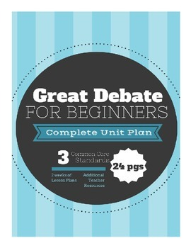 Debate Unit Plan for Beginners