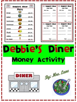 Debbie's Diner Money Activity