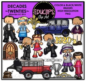 Decades-Twenties Clip Art Bundle