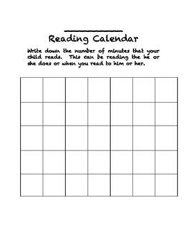 Reading Calendar