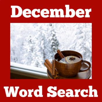 December Activity | December Word Search