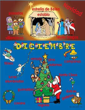 December Activities in Spanish 95 pages