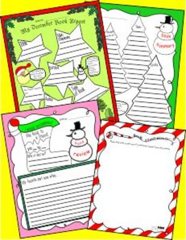 December Book Report Freebie