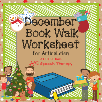 December Book Walk Worksheet