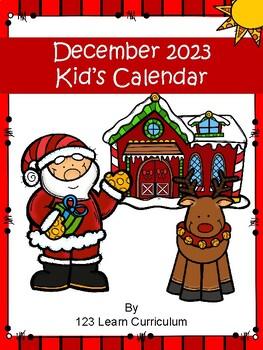 December 2016 Kids Calendar