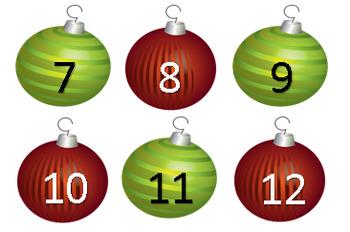 December Calendar Christmas Balls