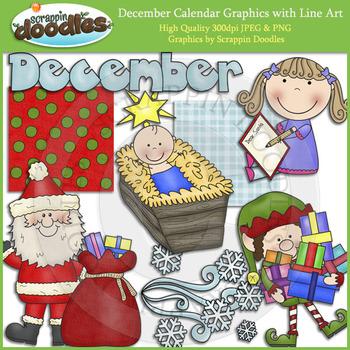 December Calendar Graphics