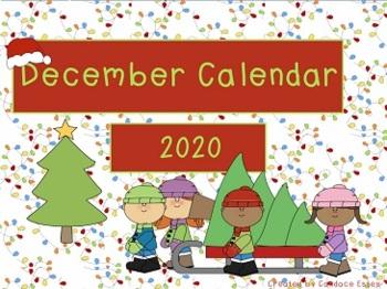 December Calendar Math 2016