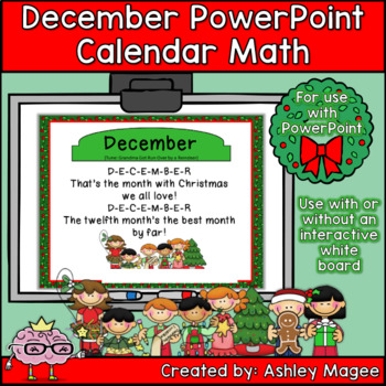 December Calendar Math - in PowerPoint - use with or witho