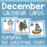 December Calendar Numbers - Nativity/Christmas
