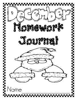 December Christmas Journal Cover, Newsletter, and Phonics Choices