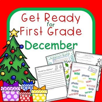 December Christmas Literacy Math Packet: Add, Fact Family,