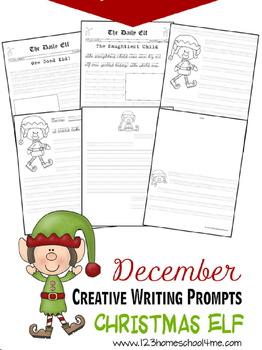 December Creative Writing Prompts - Christmas Elf (Prescho
