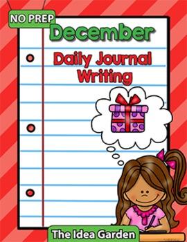December Daily Journal Writing - NO PREP