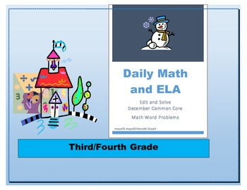 December Daily Math and ELA Common Core (edit and solve) G
