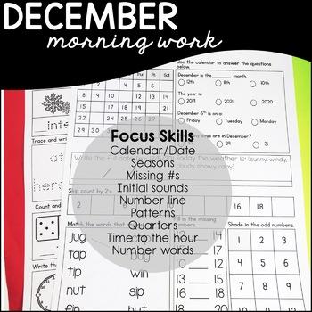 December Daily Skills Practice/ Morning Word