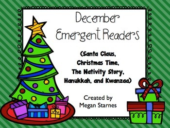 December Emergent Reader Mini-books (five readers)