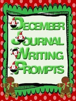 December Everyday Writing Journals Printable