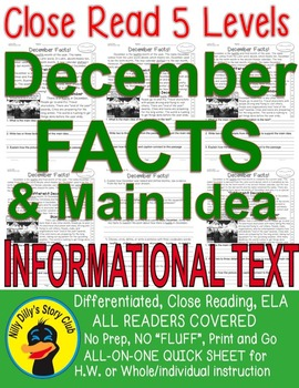 December FACTS Close Read 5 level passages ALL READERS COV