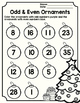 December Holiday Math Printables Freebie