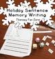 December Holiday Writing