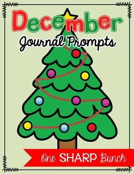December Journal Prompts - No Prep Writing Center