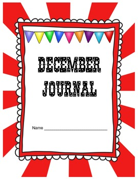 December Journal Prompts Printable Notebook Common Core W.